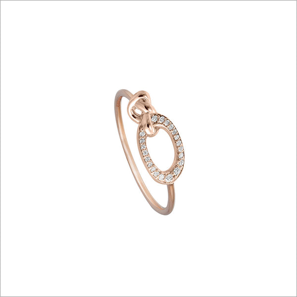 Nodo 18K Rose Gold & Diamond Ring