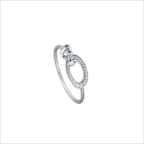 Nodo 18K White Gold & Diamond Ring