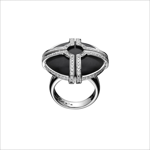 Favola 18K White Gold & Black Onyx Ring with Diamonds
