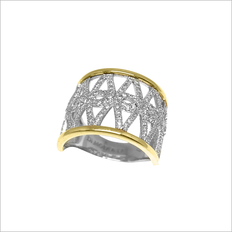 Fiamma 18K Gold Ring with Diamonds