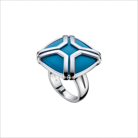 Favola 18K White Gold Ring with Turquoise