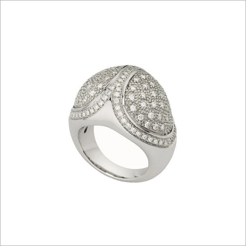 Triadra 18K White Gold & Diamond Ring