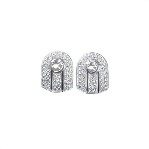 Couture 18K White Gold & Diamond Stud Earrings