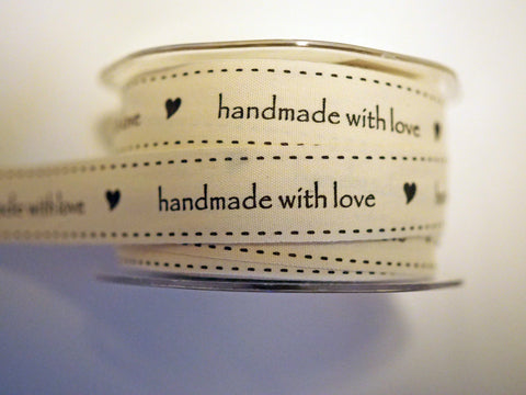 "3/4"" Handmade with Love Cotton Tape"