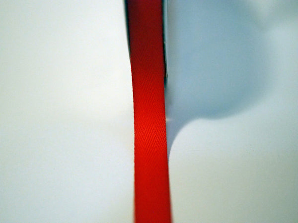"5/8"" Solid Red Twill Tape"