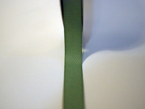 "5/8"" Solid Sage Twill Tape"