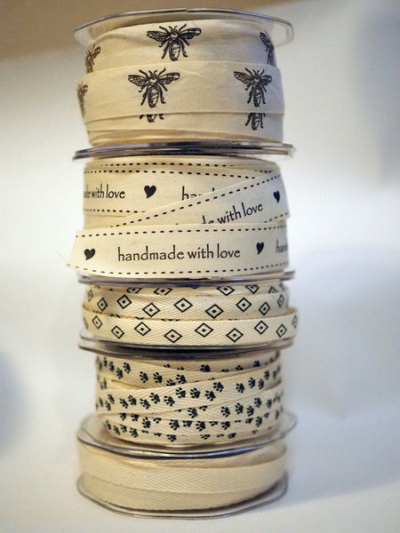 "3/4"" Bees Cotton Tape"