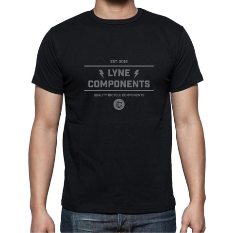 Lyne Emblem T-Shirt - Black