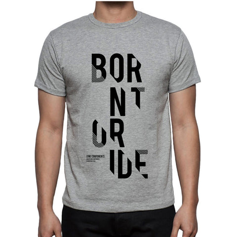 Lyne Born to Ride T-Shirt - Grey
