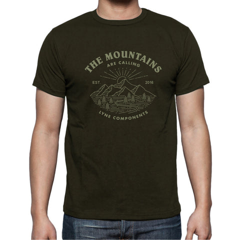 Lyne Mountains Are Calling - Army Green