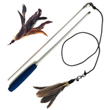 2 Feather Teaser Brown and Blue