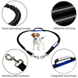 Hands Free Adjustable Dog Leash with Shock Absorbing Bungee
