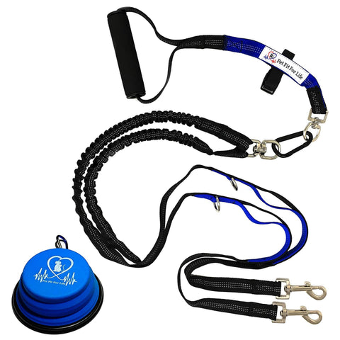 Dual Dog Leash Small With Comfortable Soft Grip