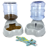 Automatic Dispenser Food-Water Bottles Combo with Bonus Plush Alligator Squeak Toy
