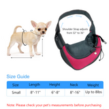 Small Dog and Cat Carrying Sling in Pink - plus Collapsible Bowl with Clip