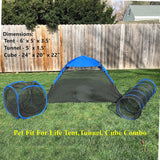 Outdoor Cat Enclosure  - Cat Tent, Tunnel, Cube Combo