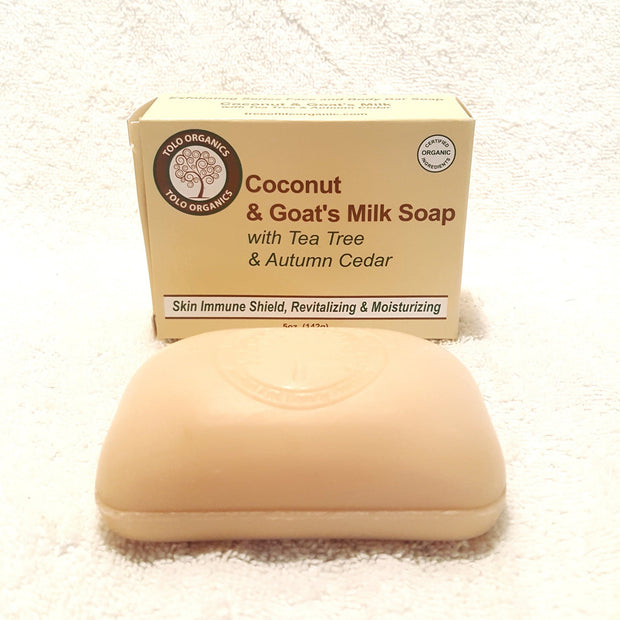 Coconut & Goat's Milk Soap w/ Tea Tree & Autumn Cedar-Soap-Black Butterfly Bath & Body