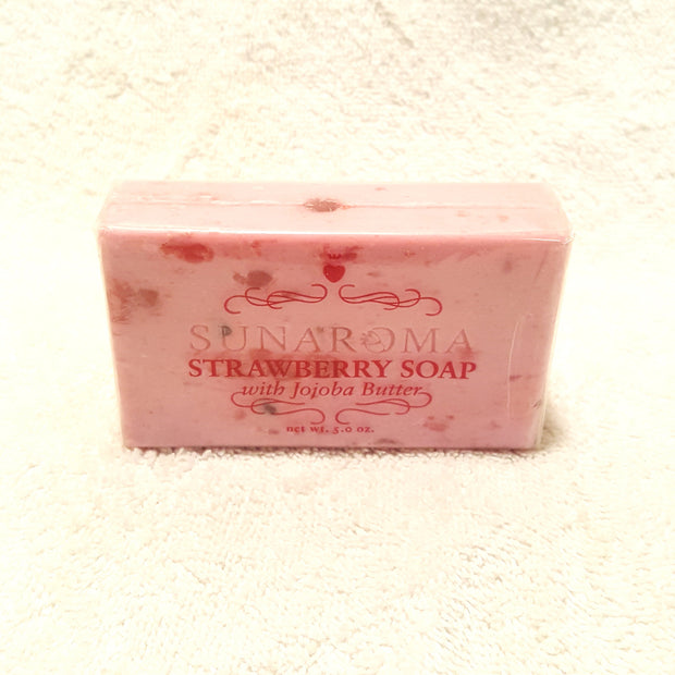 Strawberry Soap w/ Jojoba Butter-Soap-Black Butterfly Bath & Body