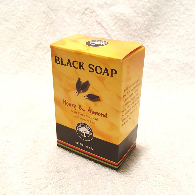 Honey & Almond Soap w/ Black Seed Oil-Soap-Black Butterfly Bath & Body