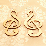 Music Symbol Wood Earrings-Earrings-Black Butterfly Bath & Body