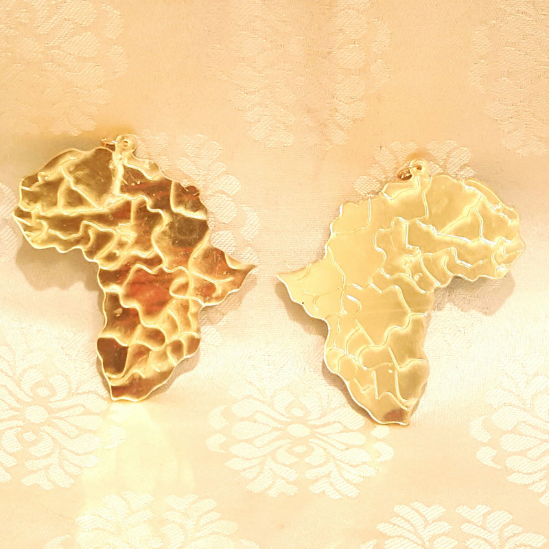 Mirrored Gold Africa Earrings-Earrings-Black Butterfly Bath & Body