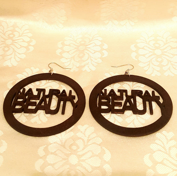Natural Beauty Cutout Wood Earrings-Earrings-Black Butterfly Bath & Body