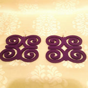 """Ram's Horns"" African Symbol Earrings-Earrings-Black Butterfly Bath & Body"