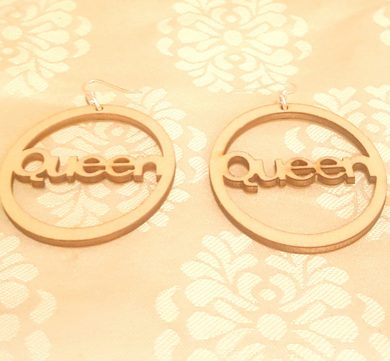 Queen's Wood Earrings-Earrings-Black Butterfly Bath & Body