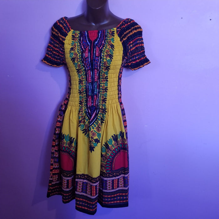 Dashiki print Mini Dress
