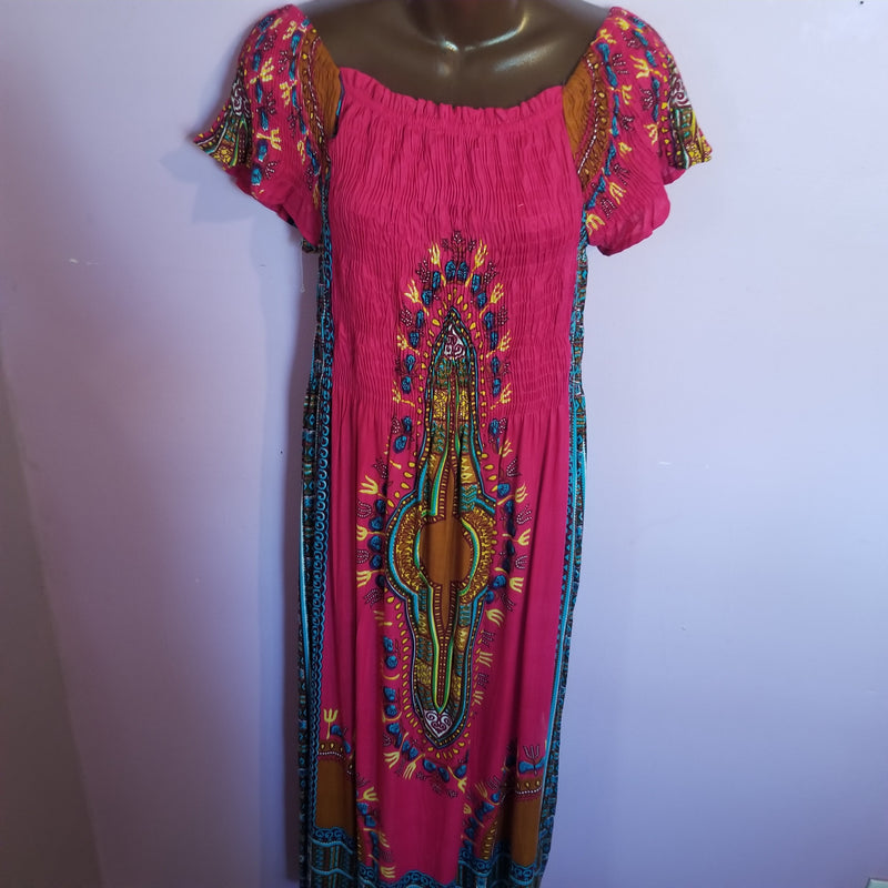Long Dashiki print Dress