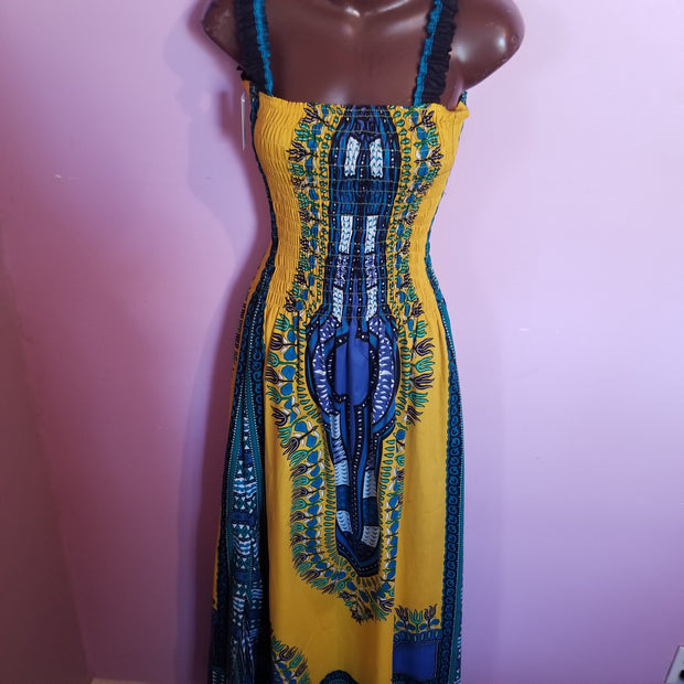 Long Sleeveless Dashiki Dress