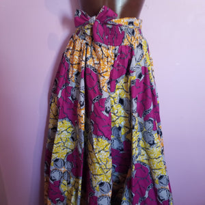 Full length African Print Skirt