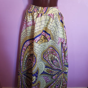 Full length Silky-type African Print Skirt