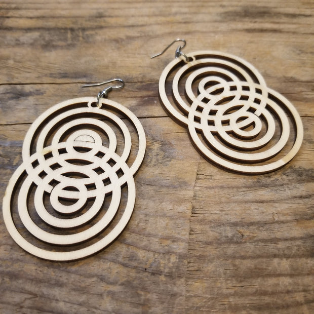 ADINKRAHENE inspred by Wood Earrings