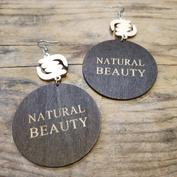 Natural Beauty Wood Earrings
