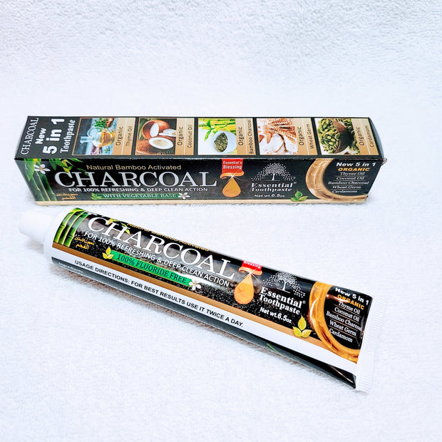 5 in 1 Natural Charcoal Toothpaste