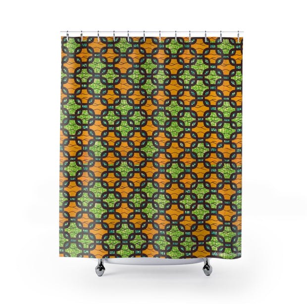Ankara Links Shower Curtains