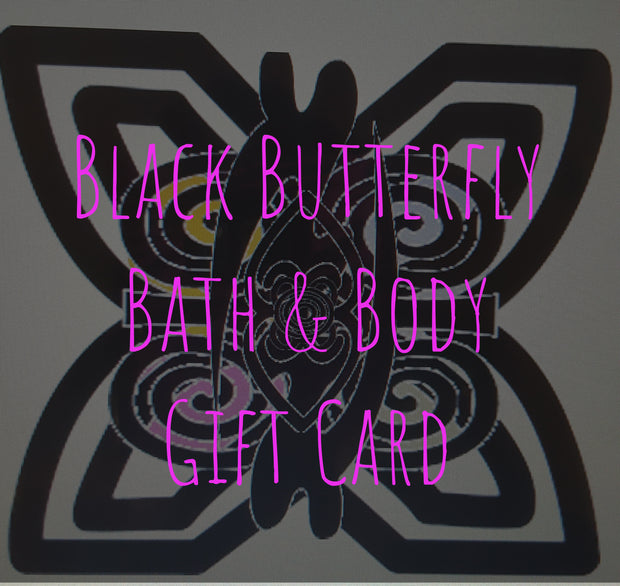 Black Butterfly Gift Card