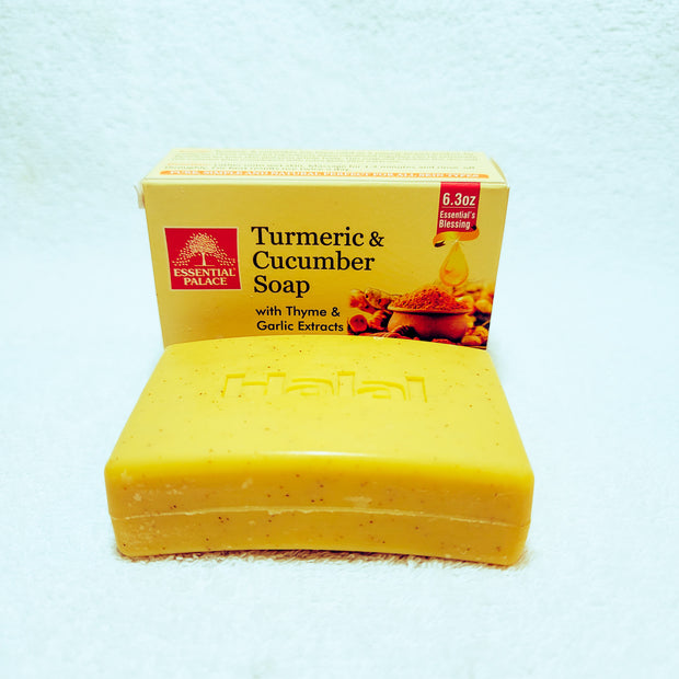 Turmeric & Cucumber Soap w/ Thyme & Garlic Extracts