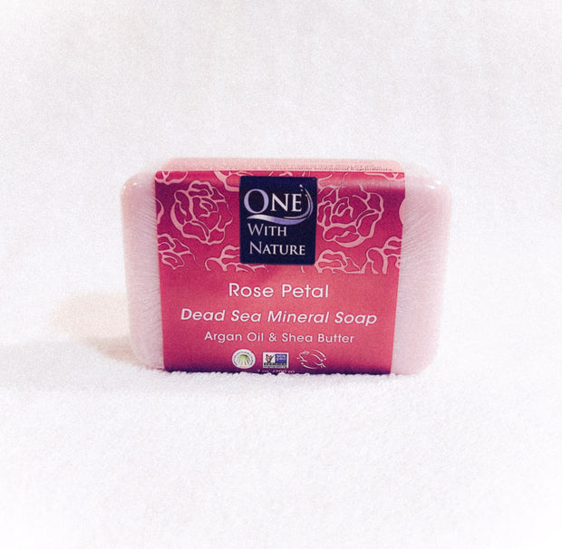 Dead Sea Mineral Rose Petal Soap