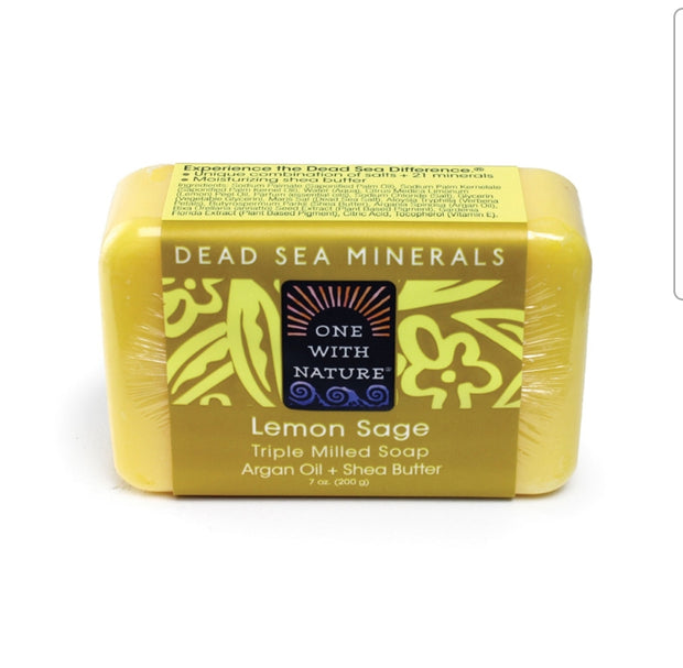 Dead Sea Mineral Lemon Sage Soap
