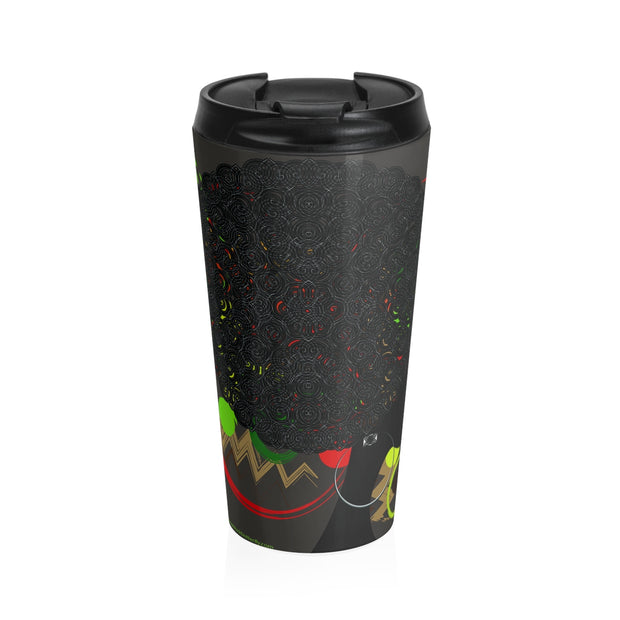 Afro Queendom Stainless Steel Travel Mug