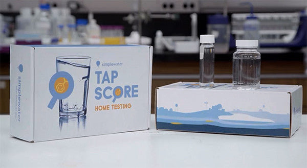 photo of tap score box with vials in lab