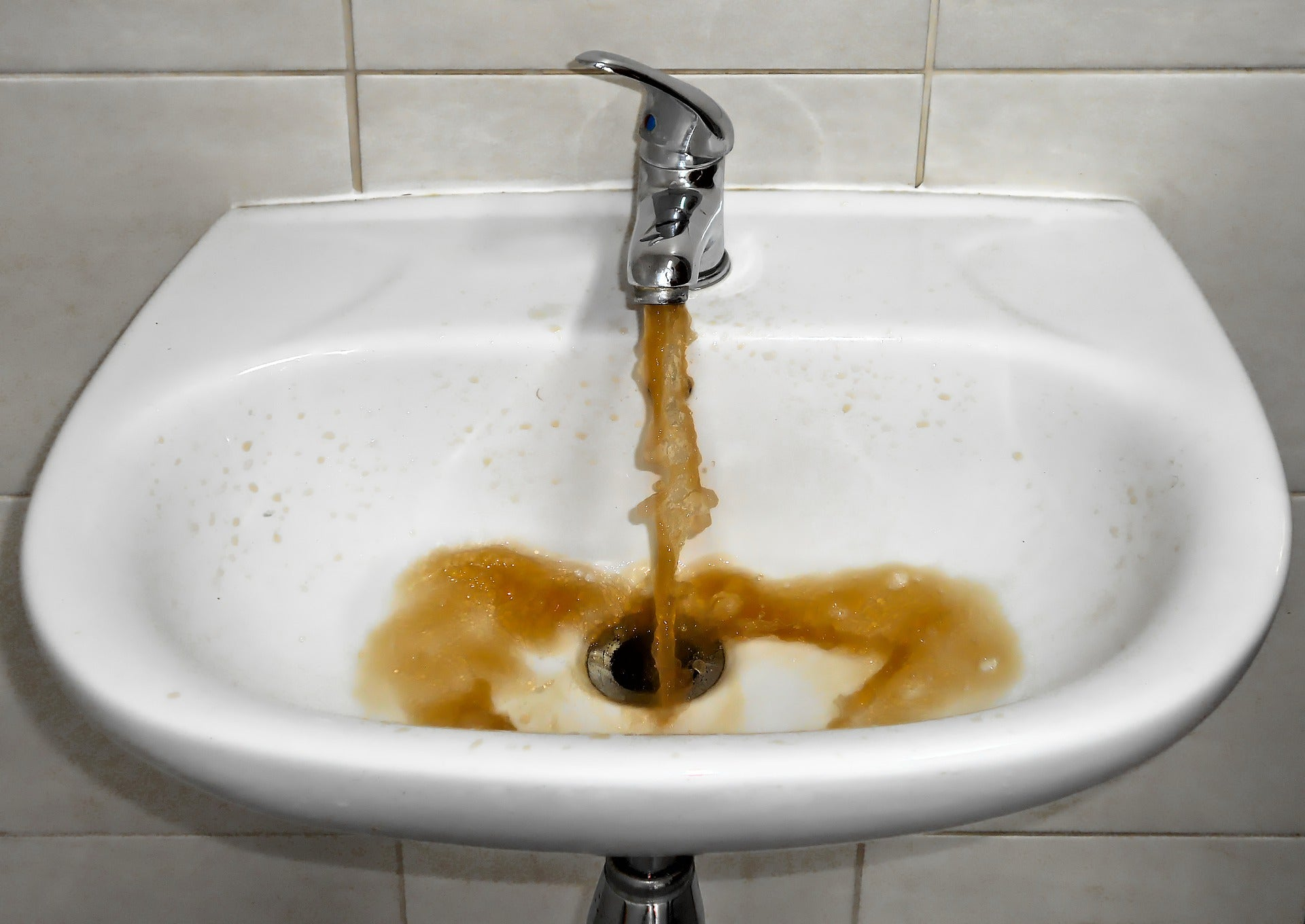 Brown tap water