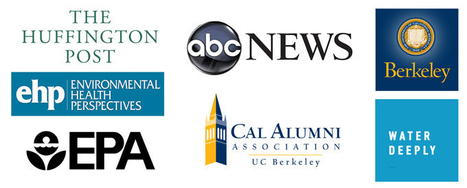 Media Mentions on Environmental Health Perspectives, National Water Systems Council, Water Deeply, ABC News, Huffington Post, and others.