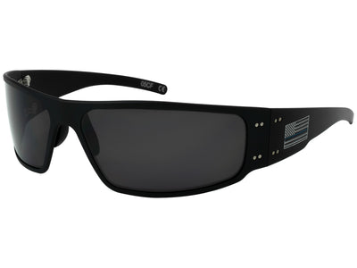 Patriot Thin Blue Line Magnum/ Black / Smoke Polarized