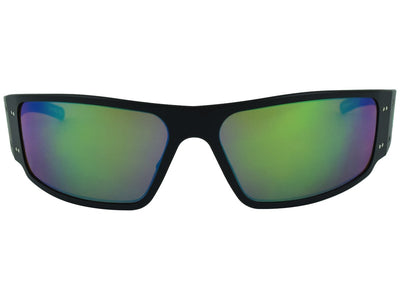 Black / w/ Greeen Engraved G / Green Mirror Polarized