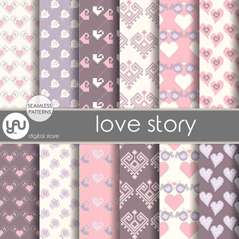 Digital paper | Imagini digitale - LOVE STORY - DP2