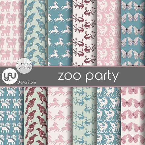 Digital paper | Imagini digitale - ZOO PARTY - DP3