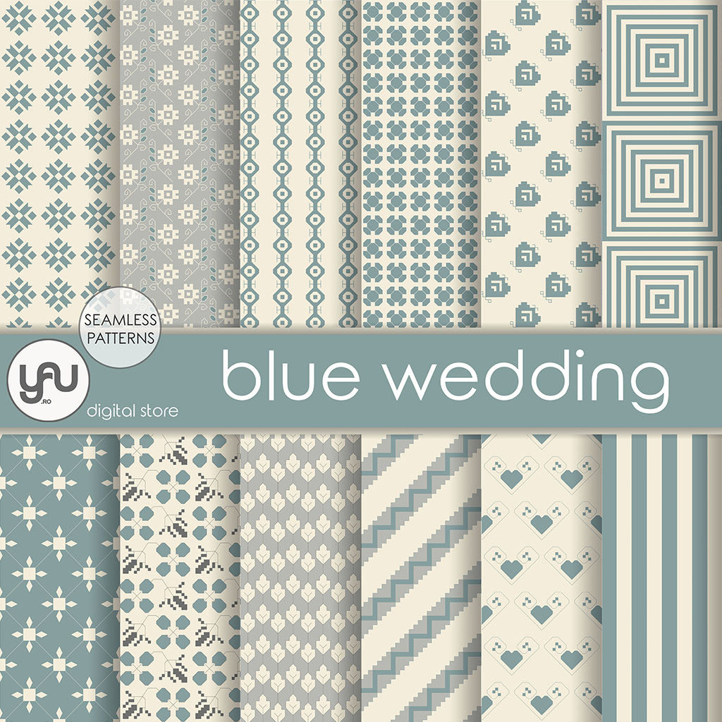 Digital paper | Imagini digitale - BLUE WEDDING - DP28